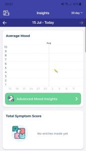 Bearable mobile app statistics function