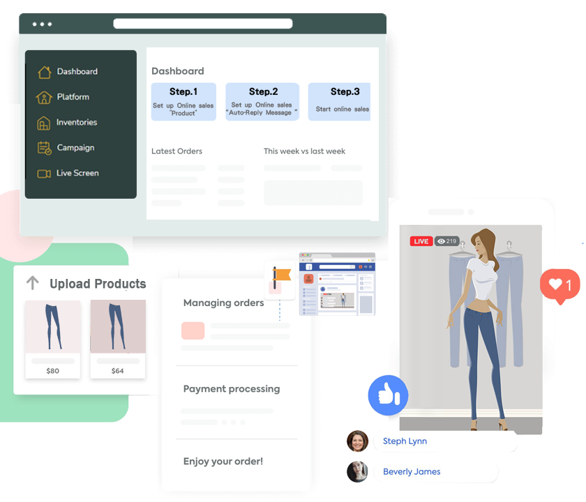Begin Your Livestream and Real time Capture of Customer Orders
